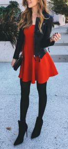 fall-fashion-red-dress-leather